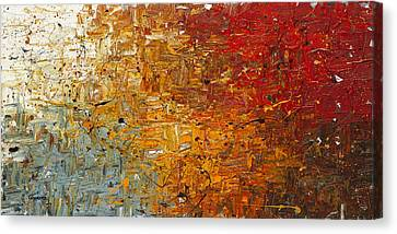 Canvas Print featuring the painting Running Free - Abstract Art by Carmen Guedez