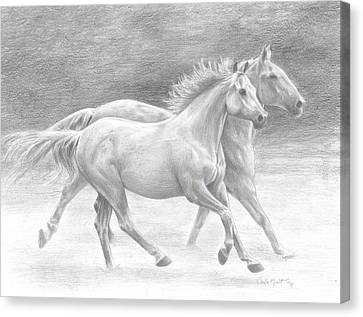 Running Free Canvas Print by Carla Kurt