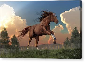 Running Free Canvas Print by Daniel Eskridge