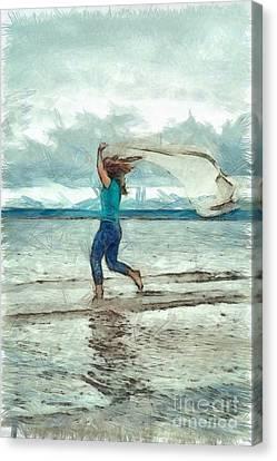 Running Free Canvas Print by Edward Fielding