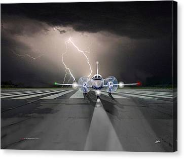 Running From The Storm Canvas Print by G Jay Jacobs