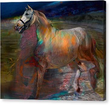 Running Horse Canvas Print by Henriette Tuer lund