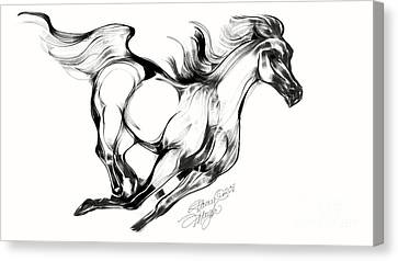 Running Horse Canvas Print