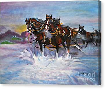 Running Horses- Beach Gallop Canvas Print
