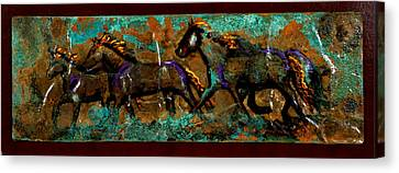 Running Horses Canvas Print by Laurie Tietjen