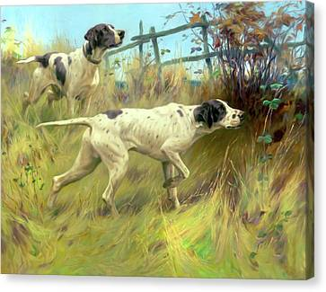 Running In The Meadow Canvas Print by Georgiana Romanovna