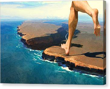 Running On The Edge Canvas Print by Jack Zulli