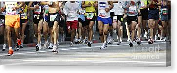 Running The Race Canvas Print