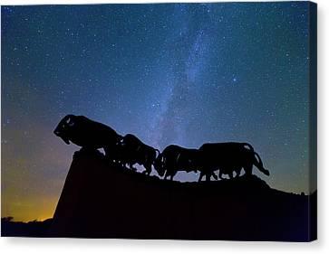 Running Under The Milky Way Canvas Print by Stephen Stookey