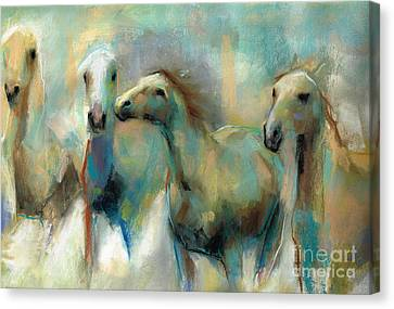 Canvas Print - Running With The Palominos by Frances Marino