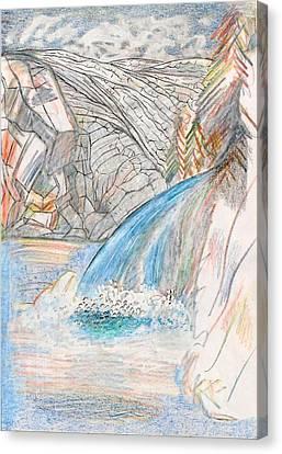 Runoff Canvas Print by Al Goldfarb