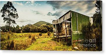Rustic Abandoned Shed In Old Rural Countryside Canvas Print by Jorgo Photography - Wall Art Gallery