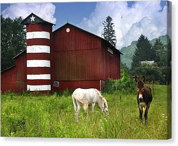 Rural America Canvas Print by Lori Deiter