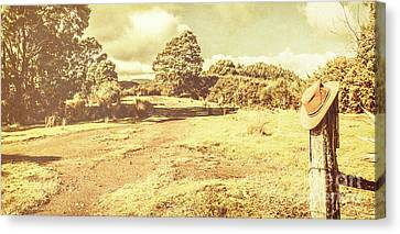 Semi Dry Canvas Print - Rural Australia Panorama by Jorgo Photography - Wall Art Gallery