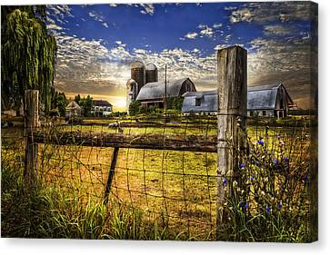 Rural Farms Canvas Print by Debra and Dave Vanderlaan