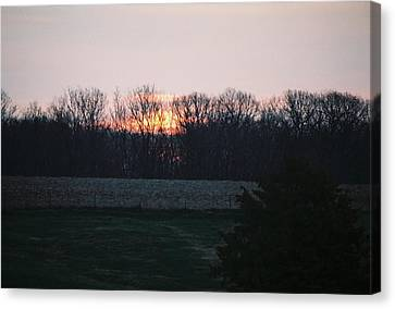Rural Illinois Sunset Canvas Print by C E McConnell