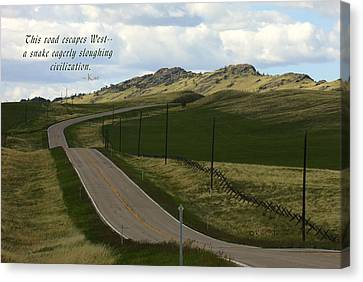 Country Scenes Canvas Print - Rural Landscape With Haiku by Kae Cheatham
