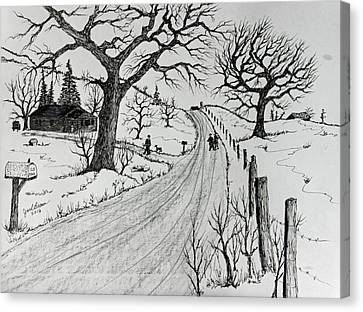 Rural Living Canvas Print by Jack G Brauer
