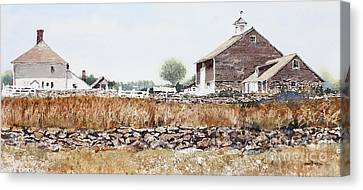 Rural Maine Canvas Print by Monte Toon
