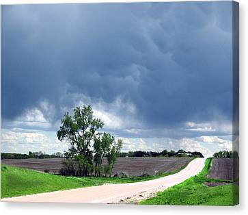 Canvas Print featuring the photograph Rural Nebraska by Tyler Robbins