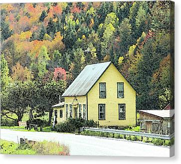 Rural New England Canvas Print by Betty LaRue
