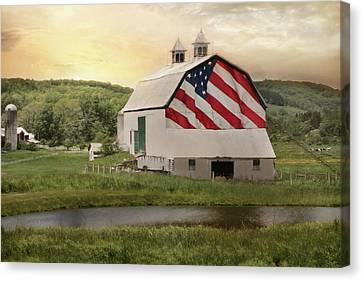 Rural Patriotism Canvas Print