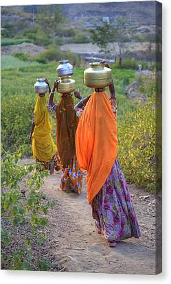 rural Rajasthan Canvas Print by Joana Kruse