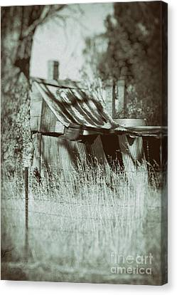 Canvas Print featuring the photograph Rural Reminiscence by Linda Lees