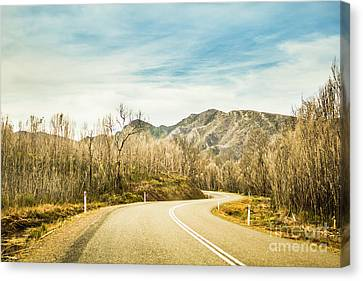 Rural Road To Australian Mountains Canvas Print
