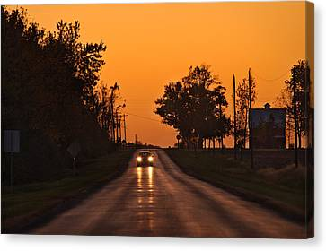 Rural Road Trip Canvas Print by Steve Gadomski