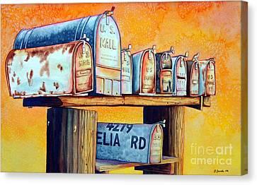 Rural Route Canvas Print by Gail Zavala
