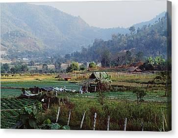 Rural Scene Near Chiang Mai, Thailand Canvas Print by Bilderbuch