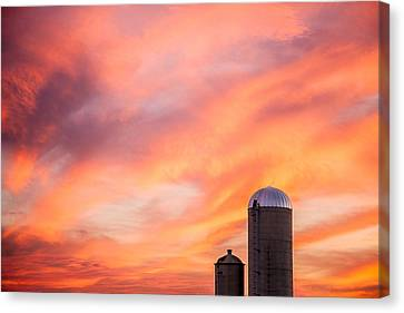Evansville Canvas Print - Rural Skies by Todd Klassy