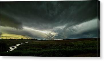 Rural Spring Storm Over Chester Nebraska Canvas Print