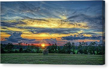 Canvas Print featuring the photograph Rural Sunset by Lewis Mann