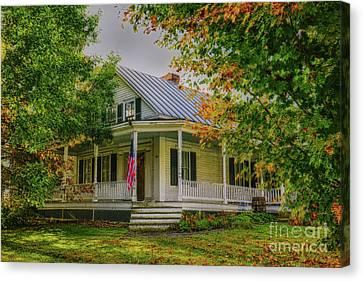 Canvas Print featuring the photograph Rural Vermont Farm House by Deborah Benoit