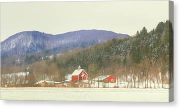 Canvas Print featuring the digital art Rural Vermont by Sharon Batdorf