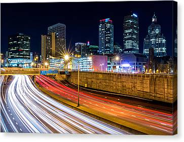 Canvas Print featuring the photograph Rush Hour In Hartford, Ct by Mihai Andritoiu