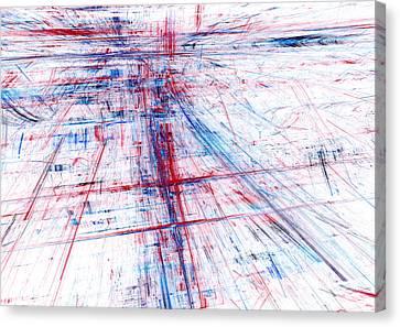 Tron Canvas Print - Rush Hour by Martin Capek