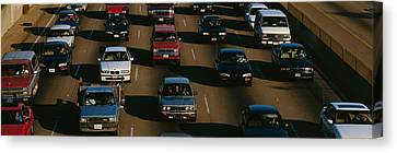 Rush Hour Traffic On Los Angeles Freeway Canvas Print