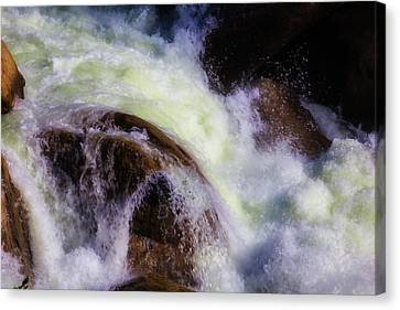 Rushing Water Merced River Canvas Print