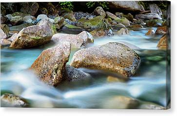 Howe Canvas Print - Rushing Water by Stephen Stookey