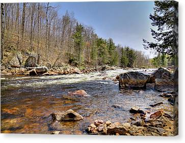 Canvas Print featuring the photograph Rushing Waters Of The Moose River by David Patterson