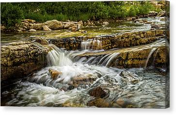 Rushing Waters - Upper Provo River Canvas Print by TL Mair