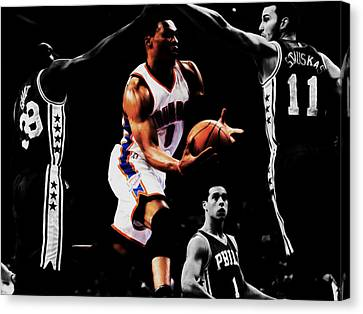 Russell Westbrook Going Underneath Canvas Print