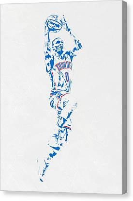 Russell Westbrook Oklahoma City Thunder Pixel Art Canvas Print