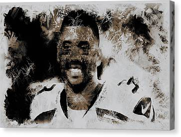 Russell Wilson 4e Canvas Print by Brian Reaves
