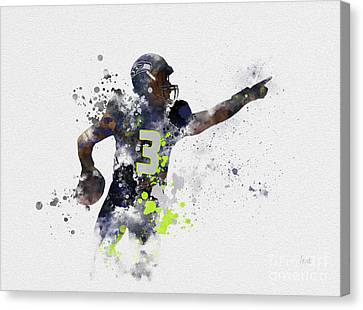 Russell Wilson Canvas Print by Rebecca Jenkins