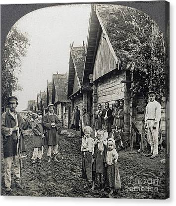 Russia: Peasants Canvas Print by Granger