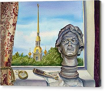 Russia Saint Petersburg Canvas Print by Irina Sztukowski